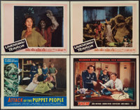 """Attack of the Puppet People and Others Lot (American International, 1958). Lobby Cards (4) (11"""" X 14""""). Scienc..."""