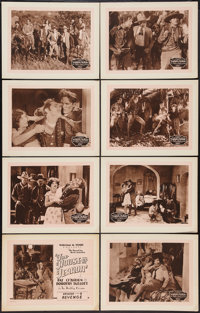 "The House of Terror (William M. Pizor, 1928). Lobby Card Set of 8 (11"" X 14"") Episode 8 -- ""Revenge.""..."