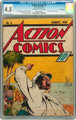 Action Comics #3 Billy Wright pedigree (DC, 1938) CGC VG+ 4.5 Off-white to white pages