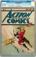 Golden Age (1938-1955):Superhero, Action Comics #2 Billy Wright pedigree (DC, 1938) CGC VG/FN 5.0 White pages....