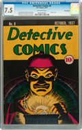 Platinum Age (1897-1937):Miscellaneous, Detective Comics #8 Billy Wright pedigree (DC, 1937) CGC VF- 7.5 Off-white pages....