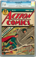 Golden Age (1938-1955):Superhero, Action Comics #15 Billy Wright pedigree (DC, 1939) CGC FN/VF 7.0 Off-white to white pages....
