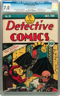 Detective Comics #29 Billy Wright pedigree (DC, 1939) CGC FN/VF 7.0 Off-white to white pages