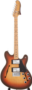 Musical Instruments:Electric Guitars, 1976 Fender Starcaster Sunburst Semi-Hollow Electric Guitar, Serial# 669078....
