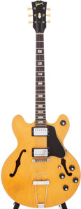 Musical Instruments:Electric Guitars, 1969 Gibson ES-150N Blonde Semi-Hollow Electric Guitar, Serial #542618....