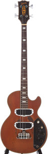 Musical Instruments:Electric Guitars, 1972 Gibson Les Paul Walnut Electric Bass Guitar, Serial # 177657. ...