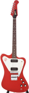 Musical Instruments:Electric Guitars, 1966 Gibson Firebird I Ember Red Electric Guitar, Serial #800852....
