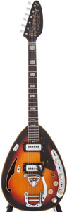 Musical Instruments:Electric Guitars, 1960s Vox Starstream Sunburst Semi-Hollow electric Guitar, Serial #378584....