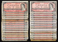 Canadian Currency: , 1954 Twos.. ... (Total: 32 notes)