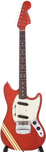 Musical Instruments:Electric Guitars, 1969 Fender Competition Mustang Candy Apple Red Solid Body ElectricGuitar, Serial # 291456....