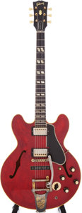 Musical Instruments:Electric Guitars, 1960 Gibson ES-345 Cherry Semi-Hollow Electric Guitar, Serial #A35102....