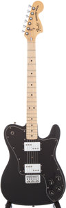 Musical Instruments:Electric Guitars, 1977 Fender Telecaster Deluxe Black Electric Guitar, Serial # S705800....