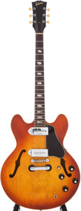 Musical Instruments:Electric Guitars, 1966 Gibson ES-330 Sunburst Semi-Hollow Electric Guitar, Serial #806262....