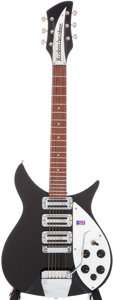 Musical Instruments:Electric Guitars, 2000 Rickenbacker 325V Miami Black 3/4 Scale Electric Guitar,Serial # 00-1683. ...