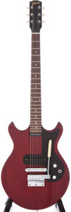 Musical Instruments:Electric Guitars, 1965 Gibson Melody Maker Cherry Electric Guitar, Serial #514310....