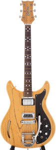Musical Instruments:Electric Guitars, Circa 1960s Kustom K-200 Natural Semi-Hollow Electric Guitar,Serial # 1663....