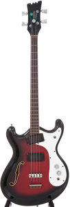 Musical Instruments:Bass Guitars, Circa 1970 Mosrite Combo Black and Red Sunburst Electric BassGuitar, Serial # R0192....