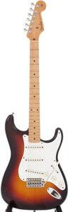 Musical Instruments:Electric Guitars, 1958 Fender Stratocaster Sunburst Electric Guitar, Serial #026872....