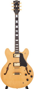 Musical Instruments:Electric Guitars, 1980 Gibson ES-347 Natural Semi-Hollow Electric Guitar, Serial # 83150053. ...