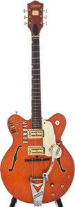 Musical Instruments:Electric Guitars, 1968 Gretsch Chet Atkins Nashville Orange Semi-Hollow ElectricGuitar, Serial #108538....