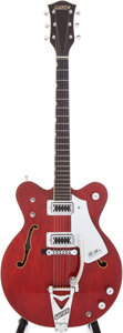 Musical Instruments:Electric Guitars, 1980s Gretsch Chet Atkins Nashville Cherry Semi-Hollow ElectricGuitar, Serial # 65068. ...