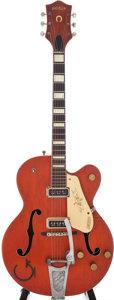 Musical Instruments:Electric Guitars, 1955 Gretsch 6120 Orange Semi-Hollow Electric Guitar, Serial #20056....