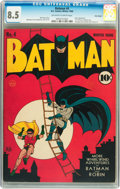Golden Age (1938-1955):Superhero, Batman #4 Billy Wright pedigree (DC, 1940) CGC VF+ 8.5 Off-white to white pages....