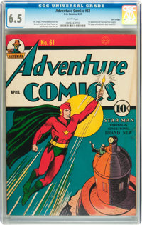 Adventure Comics #61 Billy Wright pedigree (DC, 1941) CGC FN+ 6.5 White pages