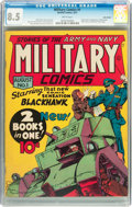 Golden Age (1938-1955):War, Military Comics #1 Billy Wright pedigree (Quality, 1941) CGC VF+8.5 White pages....