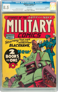 Military Comics #1 Billy Wright pedigree (Quality, 1941) CGC VF+ 8.5 White pages