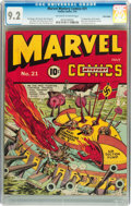 Golden Age (1938-1955):Superhero, Marvel Mystery Comics #21 Billy Wright pedigree (Timely, 1941) CGC NM- 9.2 Off-white to white pages....