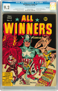 All Winners Comics #2 Billy Wright pedigree (Timely, 1941) CGC NM- 9.2 Off-white to white pages