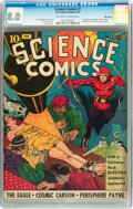 Golden Age (1938-1955):Science Fiction, Science Comics #1 Billy Wright pedigree (Fox, 1940) CGC VF 8.0Off-white to white pages....