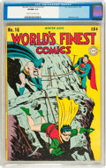 Golden Age (1938-1955):Superhero, World's Finest Comics #16 (DC, 1944) CGC VF/NM 9.0 Cream to off-white pages....