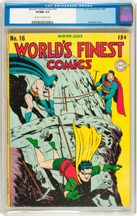 World's Finest Comics #16 (DC, 1944) CGC VF/NM 9.0 Cream to off-white pages