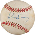 Autographs:Baseballs, Circa 1985 Mikhail Gorbachev Single Signed Baseball....