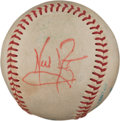 Baseball Collectibles:Balls, 1980's Neil Armstrong Signed Baseball....