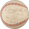 Autographs:Baseballs, 1957 President Harry S. Truman Single Signed Baseball....