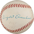 Autographs:Baseballs, 1964 Dwight D. Eisenhower Single Signed Baseball....