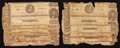 Confederate Notes:1863 Issues, T61 $2 1863 Seven Examples. T62 $1 1863 Four Examples.. ... (Total:11 notes)