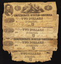 Confederate Notes:1862 Issues, T42 $2 1862 Four Examples.. ... (Total: 4 notes)