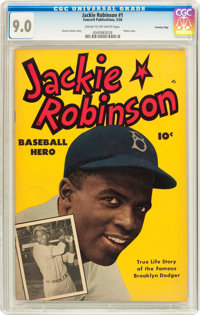 Jackie Robinson #nn Crowley Copy pedigree (Fawcett, 1950) CGC VF/NM 9.0 Cream to off-white pages