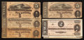 Confederate Notes:1864 Issues, T69 $5 1864 Four Examples. T70 $2 1864 Two Examples.. ... (Total: 6 notes)