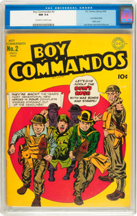 Boy Commandos #2 (DC, 1943) CGC NM 9.4 Off-white to white pages