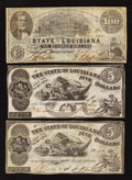 Obsoletes By State:Louisiana, State of Louisiana $5s and $100s.. ... (Total: 3 notes)