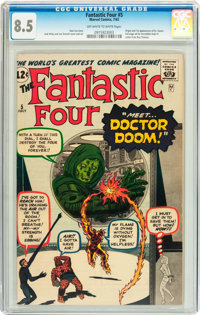 Fantastic Four #5 (Marvel, 1962) CGC VF+ 8.5 Off-white to white pages