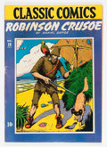 Golden Age (1938-1955):Classics Illustrated, Classic Comics #10 Robinson Crusoe - First Edition (Gilberton, 1943) Condition: VG....