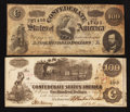 Confederate Notes:1862 Issues, Confederate C-Notes.. ... (Total: 2 notes)