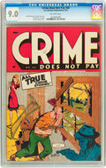 Golden Age (1938-1955):Crime, Crime Does Not Pay #38 (Lev Gleason, 1945) CGC VF/NM 9.0 Off-white pages....