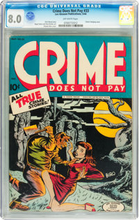 Crime Does Not Pay #33 (Lev Gleason, 1944) CGC VF 8.0 Off-whit pages